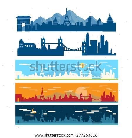 Europe background - vector illustration - stock vector