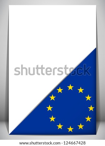 Europe Country Flag Turning Page