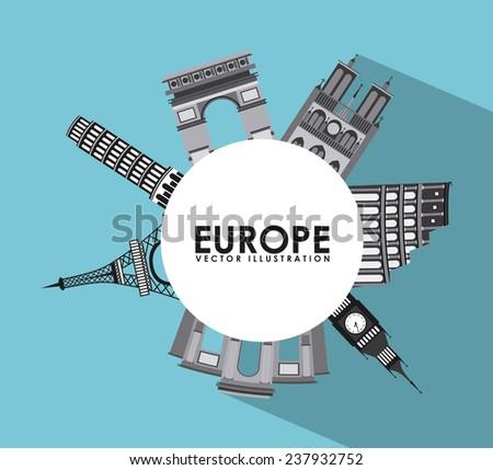 europe design - stock vector