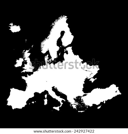 EUROPE MAP - stock vector