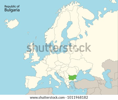 Europe Map Bulgaria Stock Vector HD Royalty Free 1011968182