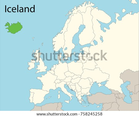 Europe map iceland vector de stock758245258 shutterstock europe map iceland gumiabroncs Images