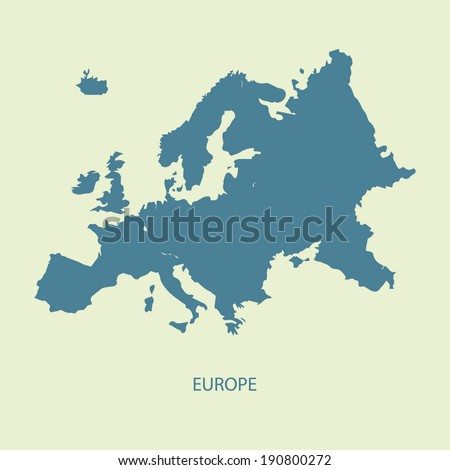EUROPE MAP ILLUSTRATION VECTOR  - stock vector