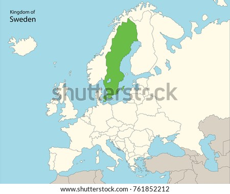 Europe Map Sweden Stock Vector HD Royalty Free 761852212