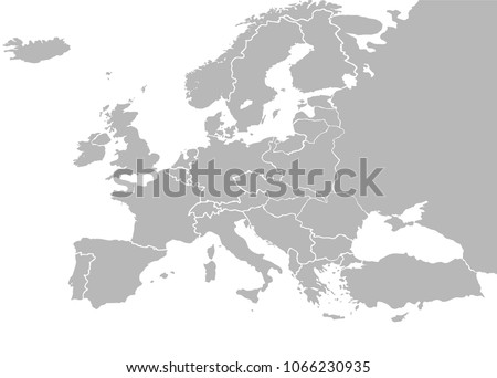 Europe map vector country borders after vector de stock1066230935 europe map vector with country borders after world war 1 treaty of versailles 1919 gumiabroncs Image collections