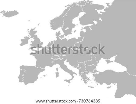 europe map vector with country borders before world war 1 1914
