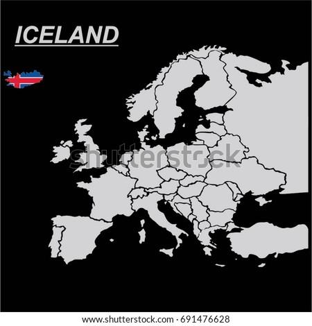 Europe map iceland flag vector vector de stock691476628 shutterstock europe map with iceland flag vector gumiabroncs Choice Image