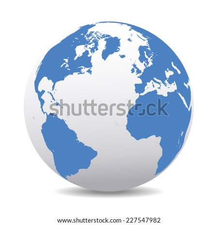 Europe, North and South America, Africa Global World - Elements of this image furnished by NASA base map is Hand Drawn using the pen tool with a tablet pen for maximum detail - stock vector