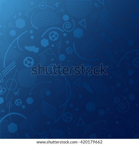 European championship 2016. Background. - stock vector