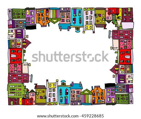 European City Frame Your Design Stock Vector 459228685 - Shutterstock