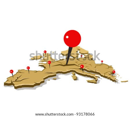 european crisis illustration concept. eurozone crisis - stock vector