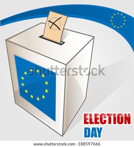 european election - stock vector