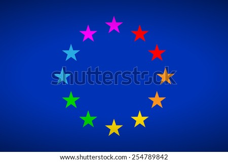 "European flag gay parade ""Europride"". Vector illustration. - stock vector"