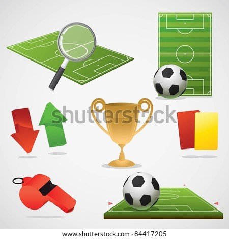 European football design elements. - stock vector