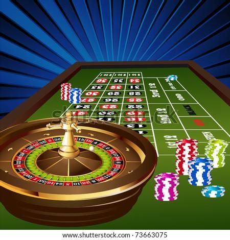 european roulette table - stock vector