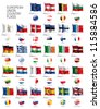 European Union country flags in vector Eps10 file format - stock photo