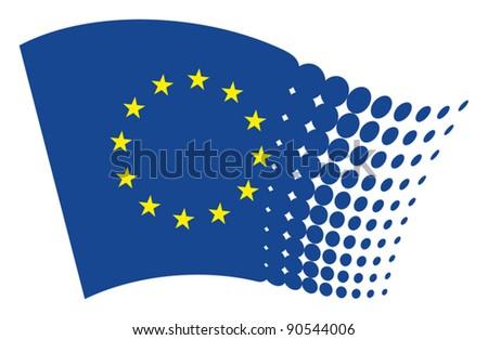 european union flag (eu) - stock vector