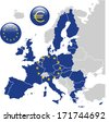European Union Map - stock photo