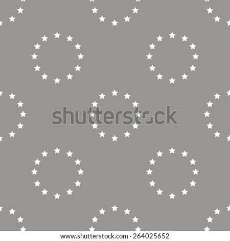 European Union white and black seamless pattern for web design. Vector symbol - stock vector