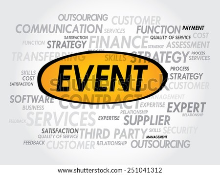EVENT word cloud, business concept - stock vector