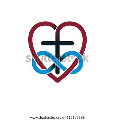 Everlasting Love God Vector Creative Symbol Stock Photo Photo