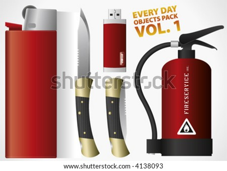 Everyday Objects Pack Vol. 1, vector - stock vector