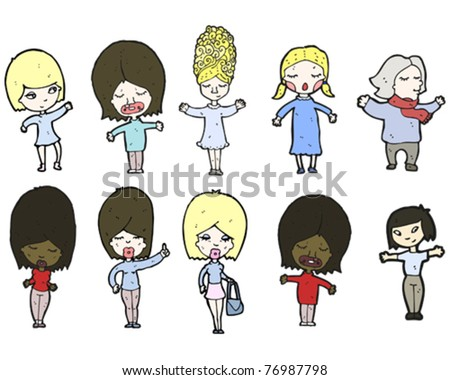 everyday women cartoon