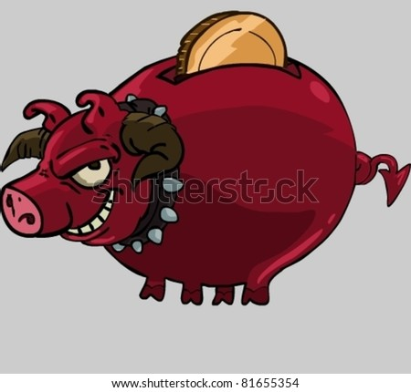 Stock Images similar to ID 75907087 - funny cartoon pig in mud
