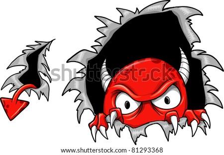 Evil Demon Devil Monster Vector Illustration - stock vector