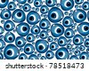 evil eye - stock vector