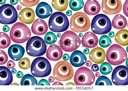 evil eye - stock vector
