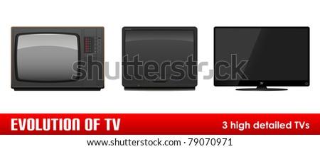 Evolution of TV. High detailed vector illustration. - stock vector