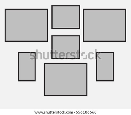 Example Device Frames On Wall How Stock Vector 656186668 - Shutterstock