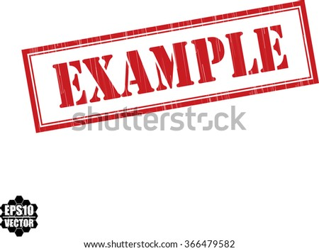 Example grunge rubber stamp, vector illustration - stock vector