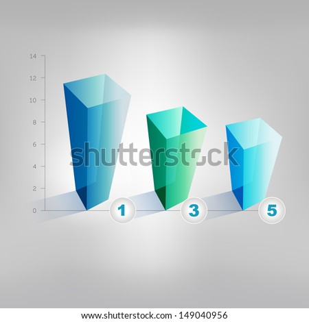 Example of business graph. Infographics chart. - stock vector