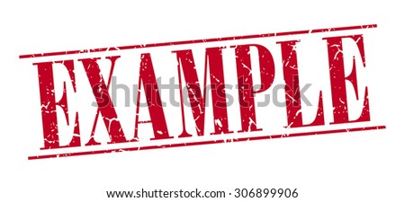 example red grunge vintage stamp isolated on white background - stock vector