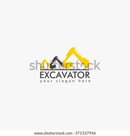 Excavator Vector Logo and business design template. - stock vector