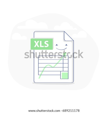 Excel File Illustration Icon Table Graph Stock Vector 689211178 ...