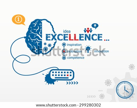 Excellence design illustration concepts for business, consulting, finance, management, career.   - stock vector