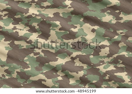 excellent background illustration of disruptive  camouflage material - stock vector