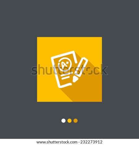 Excellent evaluation test icon - stock vector
