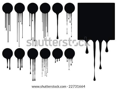 excellent high quality drips vector illustration for your design - stock vector