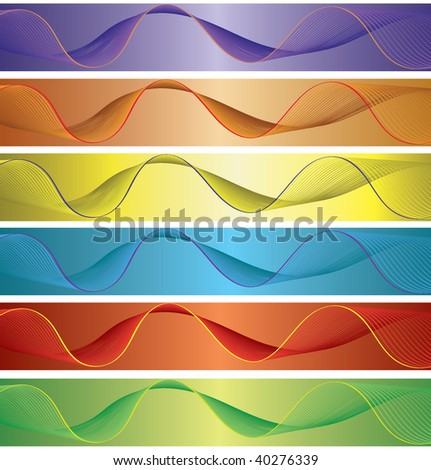 Excellent multi-color vector banners