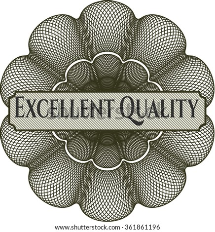 Excellent Quality abstract linear rosette - stock vector