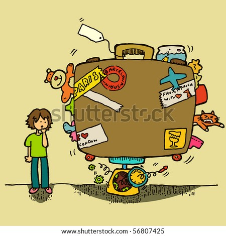 Excess baggage - stock vector