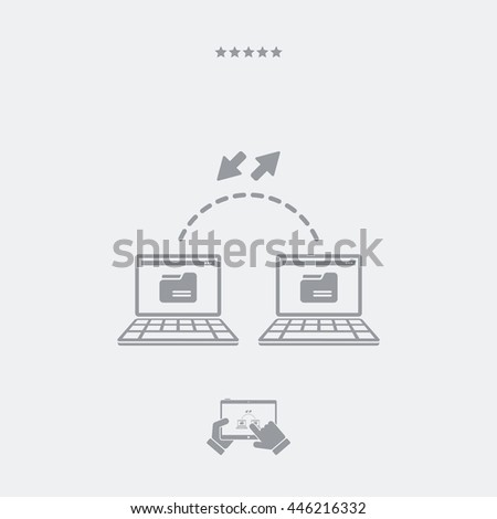 Exchange data - Minimal flat icon - stock vector