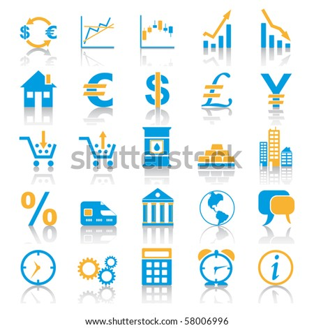 Exchange Marketplace Icons - stock vector