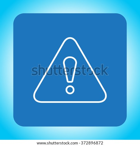 Exclamation danger line sign - stock vector