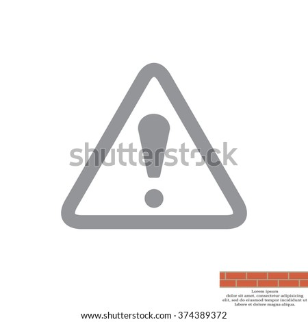 Exclamation danger sign - stock vector