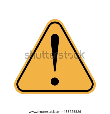 Exclamation danger sign. Hazard warning attention sign - stock vector